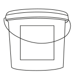 70 piece dispenser bucket