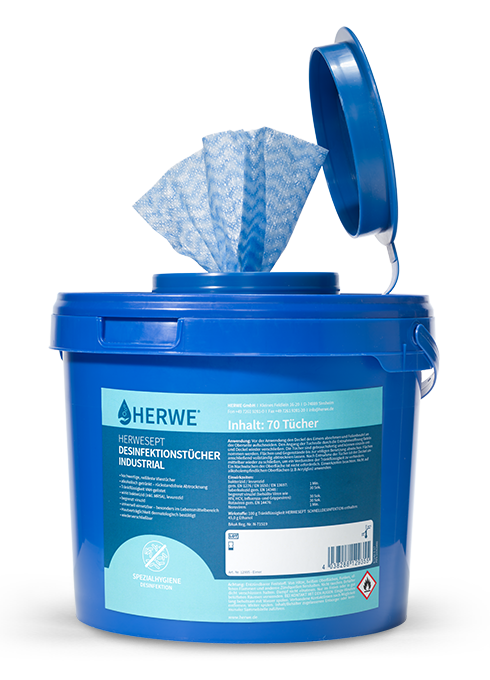 HERWESEPT INDUSTRIAL DISINFECTANT WIPES Icon